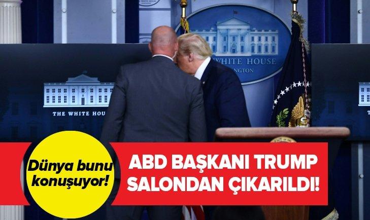 Son dakika: ABD Başkanı Trump salondan çıkarıldı!