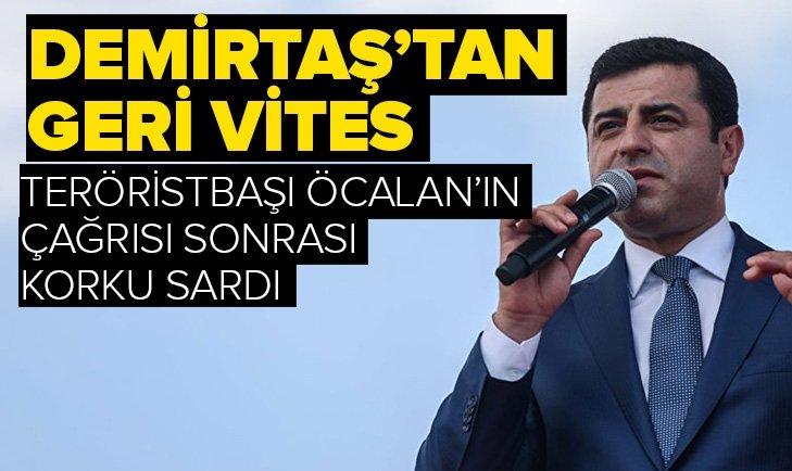 Demirtaş'tan Öcalan'ın 'tarafsızlık' çağrısı sonrası geri vites