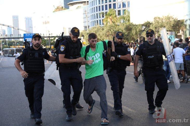 İsrail'de polis şiddeti! Göstericileri yerlerde sürüklediler