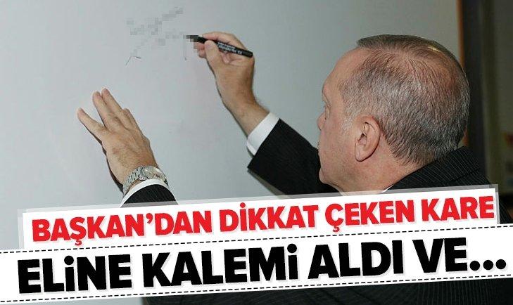 BAŞKAN ERDOĞAN'DAN DİKKAT ÇEKEN KARE!