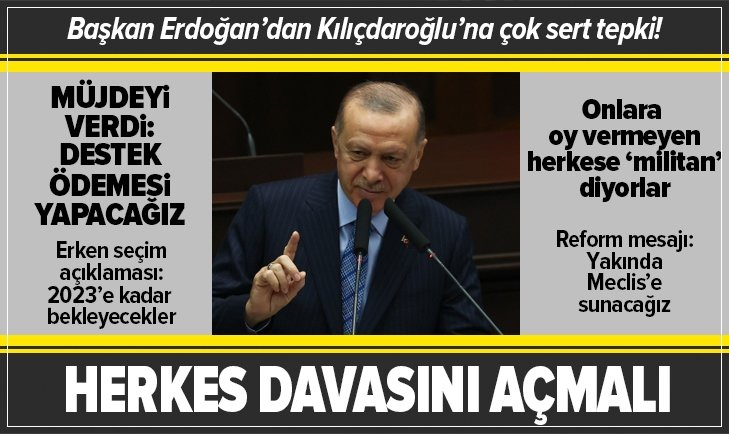 Başkan Erdoğan'dan Kılıçdaroğlu'na militan tepkisi