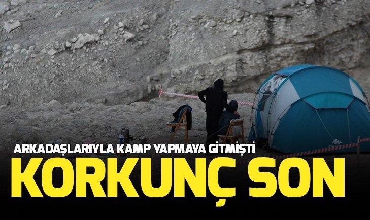 Kayseri'de kampa giden gencin korkunç sonu