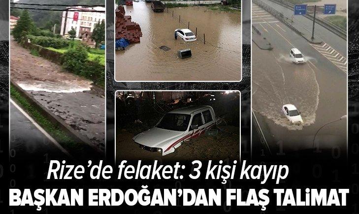 Son dakika: Başkan Erdoğan'dan Rize talimatı! 3 bakan bölgeye gidiyor