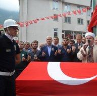 Trabzon Maçka'da şehit olan Eren Bülbül, son yolculuğuna uğurlandı