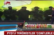 PYD'li teröristler 'Coni'lerle kol kola