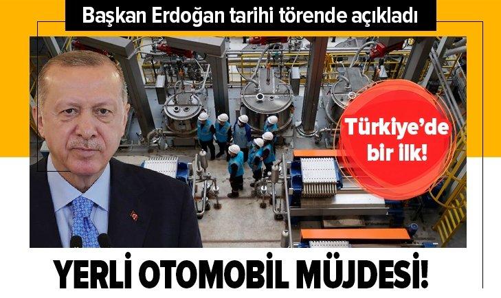 Başkan Erdoğan açıkladı! Yerli otomobil müjdesi