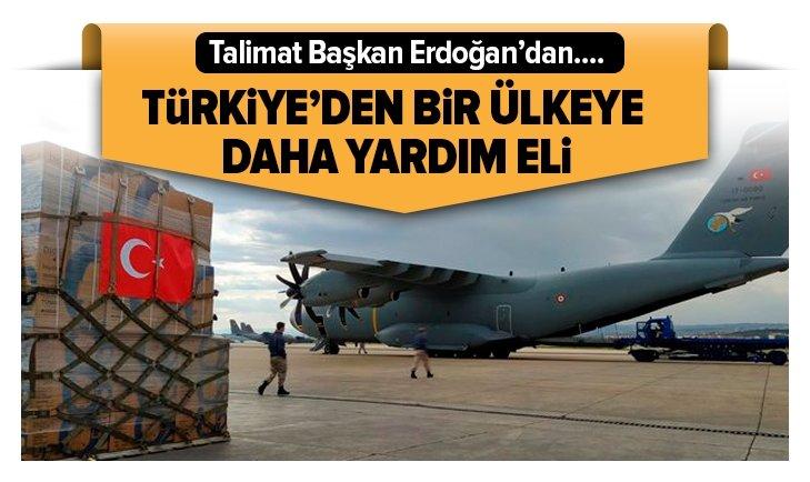 Türkiye'den bir ülkeye daha yardım