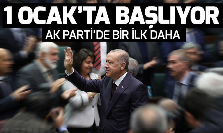 AK Parti'de bir ilk! 1 Ocak'ta başlıyor