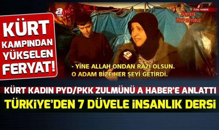 SURİYE'DEKİ KÜRT KAMPINDAN YÜKSELEN SES