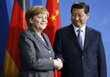 Almanya Başbakanı Angela Merkel ile Çin Devlet Başkanı Şi Cinping arasında önemli görüşme