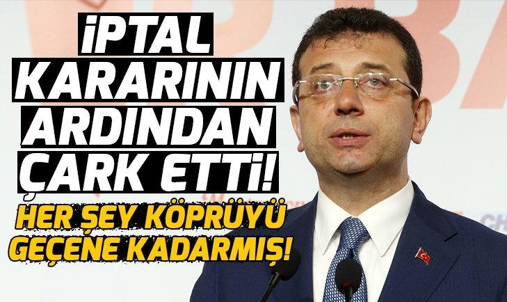 Ekrem İmamoğlu, YSK'nın İstanbul kararının ardından çark etti: YSK'yı kınıyorum