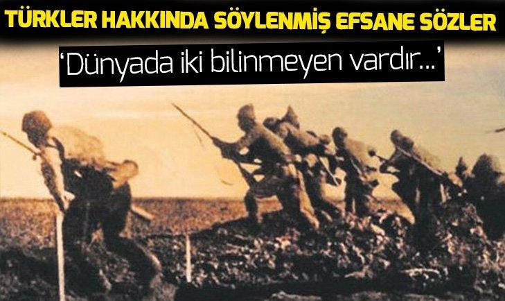 Türkler hakkında söylenmiş efsane sözler