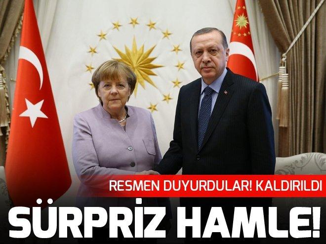 Almanya Türkiye'ye uyguladığı ekonomik yaptırım kararını kaldırdı