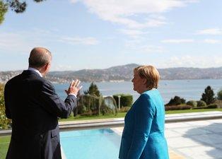 Almanya Şansölyesi Angela Merkel'den Türkiye'ye veda ziyareti! Başkan Erdoğan ile Boğaz'ı izlediler