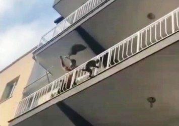 Maymun firarda! Balıkçı ağıyla yakaladı