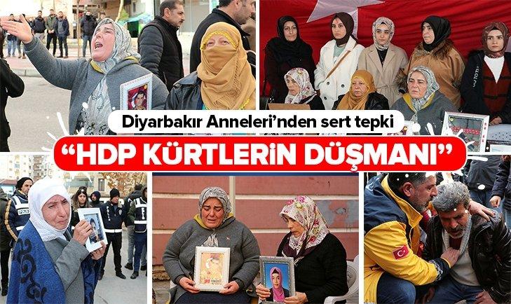 DİYARBAKIR ANNELERİ HDP'LİLERE TEPKİ GÖSTERDİ!