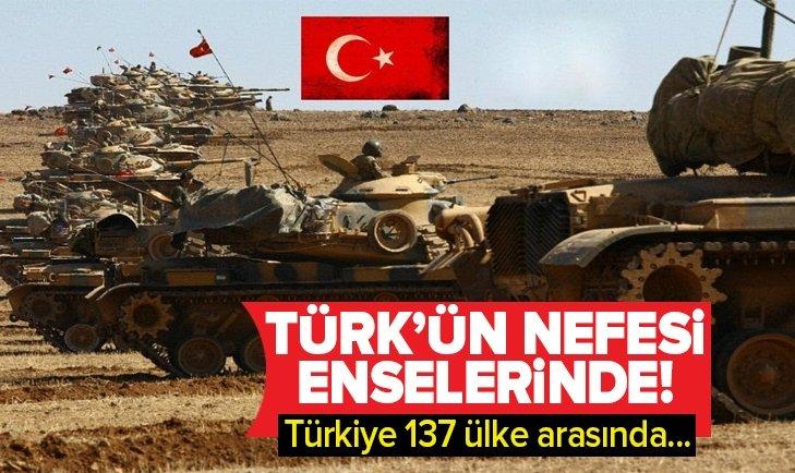 137 ÜLKE ARASINDA TÜRKİYE...
