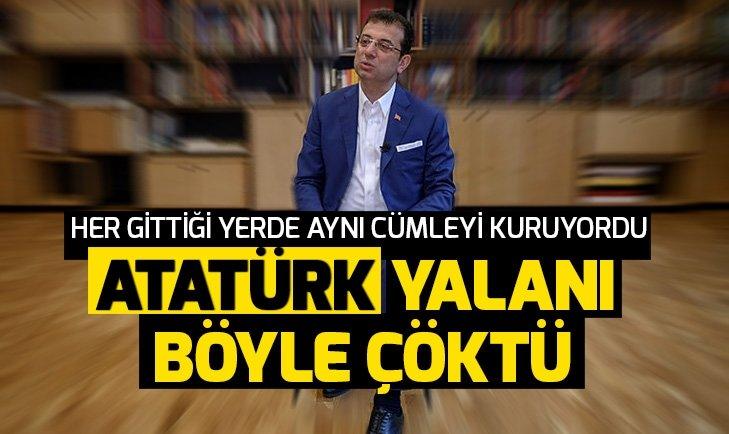 Ekrem İmamoğlu'nun Atatürk tablosu yalanı! İşte o görüntüler...