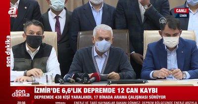 Son dakika: Binali Yıldırım'dan önemli İzmir depremi açıklaması