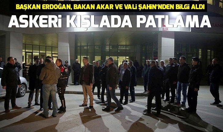 Ankara'da askeri kışlada patlama
