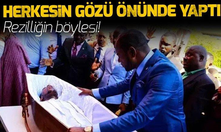 HERKESİN GÖZÜ ÖNÜNDE 'ÖLÜYÜ' DİRİLTTİ! REZİLLİĞİN BÖYLESİ...