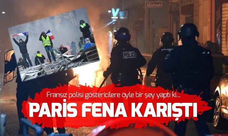 Fransa polisinden göstericilere sert müdahale