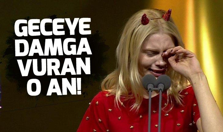 Aleyna Tilki'nin gözyaşları 45. Altın Kelebek Ödül Töreni'ne damga vurdu