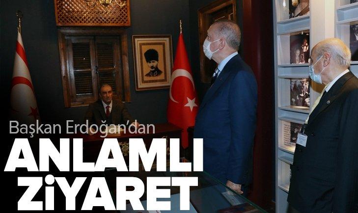 Başkan Recep Tayyip Erdoğan'dan Lefkoşa'da Alparslan Türkeş'in doğduğu müze eve ziyaret
