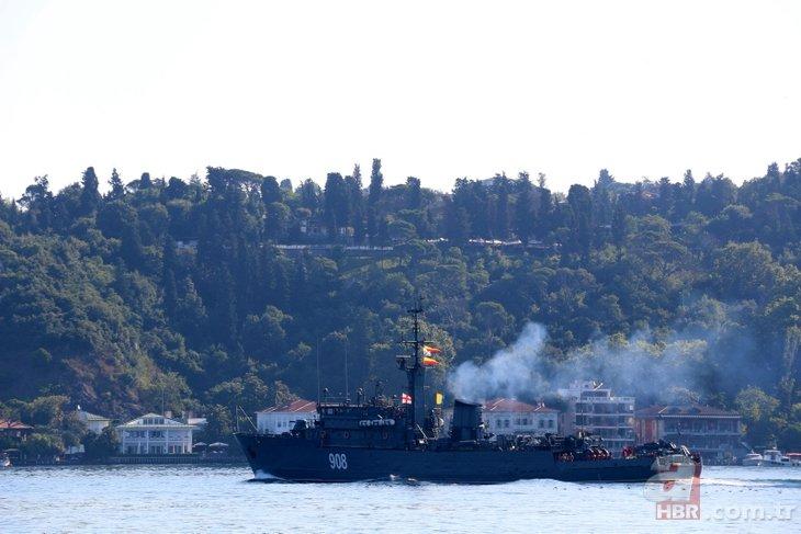 İki Rus gemisi peş peşe Boğaz'dan geçti! Dikkat çeken detay