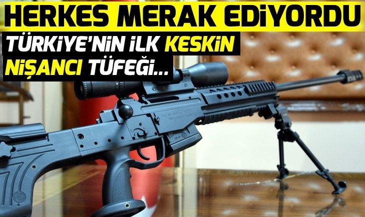 Türkiye'nin ilk keskin nişancı tüfeği Bora-12, hedefi 12'den vuruyor!