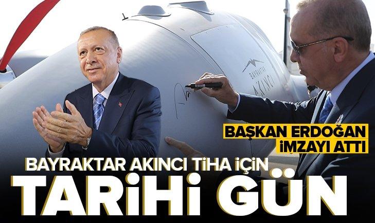 Son dakika: Başkan Erdoğan Baykar Akıncı TİHA Teslimat ve Kurs Bitirme Töreni'nde önemli açıklamalar
