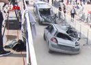 FETÖ üyesi darbeci askerlerin ezdiği araçlar Atatürk Havalimanı'nda sergilendi  Video