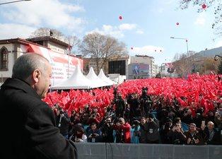 Başkan Erdoğan'ın Afyonkarahisar mitinginden çarpıcı kare!