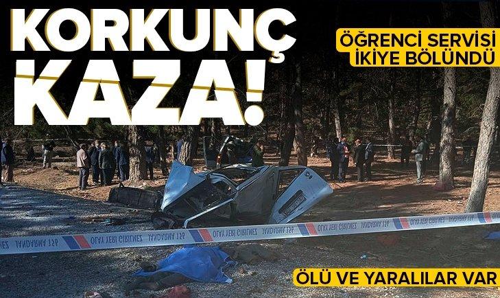 Son dakika: Afyonkarahisar'da öğrenci servisi devrildi: Ölü ve yaralılar var