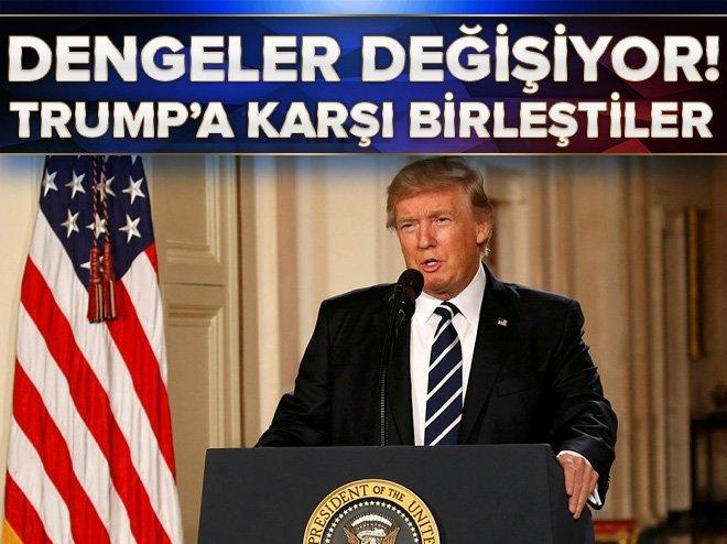 DENGELER DEĞİŞİYOR! TRUMP'A KARŞI BİRLEŞTİLER