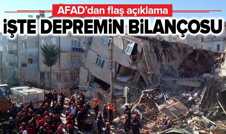 AFAD DEPREMİN BİLANÇOSUNU AÇIKLADI!