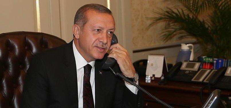 Başkan Erdoğan'dan Temimi'ye telefon