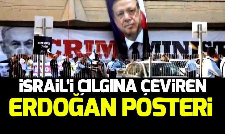 Eurovision'da İsrail'i çılgına çeviren Erdoğan posteri
