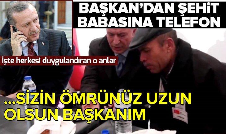 BAŞKAN ERDOĞAN'DAN ŞEHİT AİLESİNE TELEFON