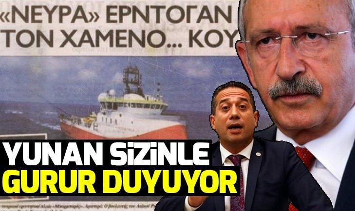 CHP'Lİ VEKİL YUNAN BASININI SEVİNDİRDİ!