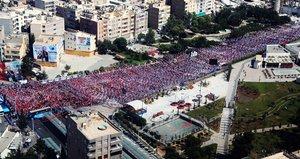 Cumhurbaşkanı Erdoğanın Şanlıurfa mitinginde büyük kalabalık