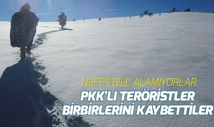 PKK'LI TERÖRİSTLERİN BAĞLANTILARI KOPTU! NEFES BİLE ALAMIYORLAR