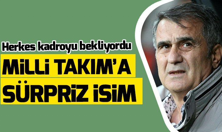 MİLLİ TAKIM'A SÜRPRİZ İSİM! HERKES KADROYU BEKLİYORDU...