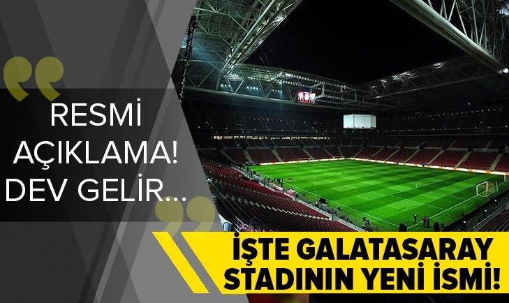 Galatasaray yeni stadyum isim sponsorunu son dakika olarak açıkladı! İşte Aslantepe'nin yeni ismi