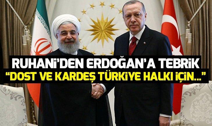 Ruhani'den Erdoğan'a tebrik