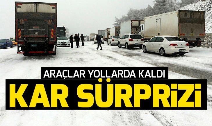 TOKAT-SİVAS KARA YOLUNDA ULAŞIMA KAR ENGELİ