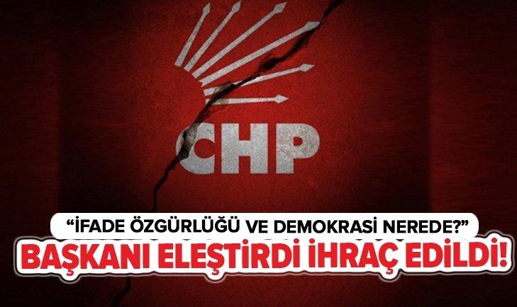 ELEŞTİRDİ DİYE CHP'DEN İHRAÇ EDİLDİ!