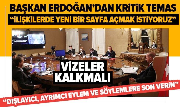 Başkan Erdoğan, AB Komisyonu Başkanı ile görüştü