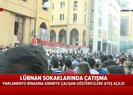 Lübnandan istifa kararı sonrası göstericiler Meclis binasına girmek istedi | A Haber sıcak bölgede