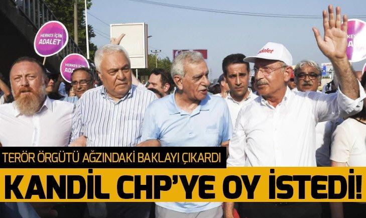KANDİL CHP'YE OY İSTEDİ